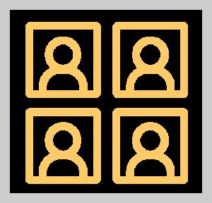 persona squares framed